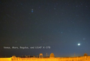 Venus, Mars, Regulus, and USAF X-37B