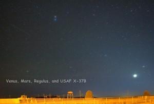 Venus, Mars, Regulus, and USAF X-37B