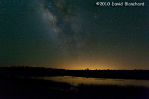 Light pollution from distant Phoenix