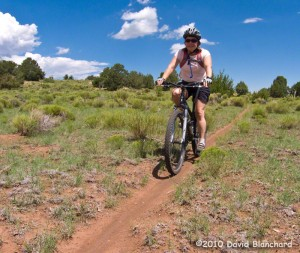 Riding singletrack near Flagstaff on the Arizona Trail.