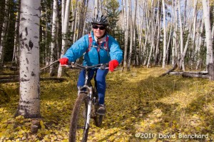 Riding the Arizona Trail at 8000 feet elevation and 38 degrees Fahrenheit. All you have to do is bundle up!