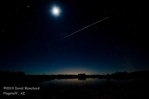 International Space Station transiting the skies across northern Arizona.