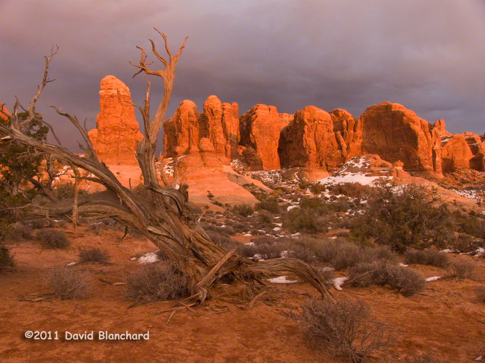 Mesa Arch in Canyonlands National Park near Moab, Utah in winter ...