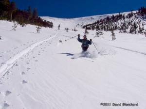 Pretty good ski conditions.