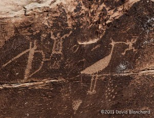 Petroglyphs at the Puerco Pueblo site in Petrified Forest National Park.