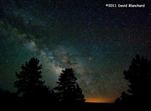 The night sky as seen from the Kaibab Plateau.