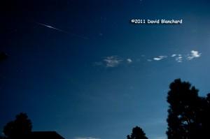 Satellite flare from Iridium 91 as it traverses the northern Arizona sky.