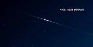 Detail of a satellite flair from Iridium 91 as it traverses the northern Arizona sky.