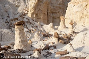 """Rimrock Hoodoos (""""Toadstools"""") in the Grand Staircase-Escalante National Monument."""
