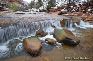 Boulders in Oak Creek in Slide Rock State Park.