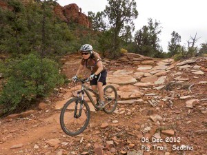 Descending Pig Trail, Sedona.