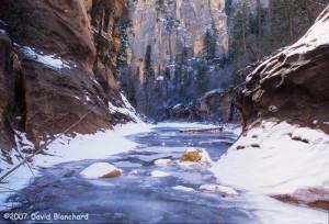 Frozen West Fork Oak Creek (2007).