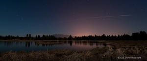 ISS flying above the San Francisco Peaks in northern Arizona.
