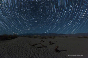 Star trails over Mesquite Flat Sand Dunes.