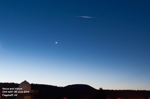 Venus and Iridium flare.