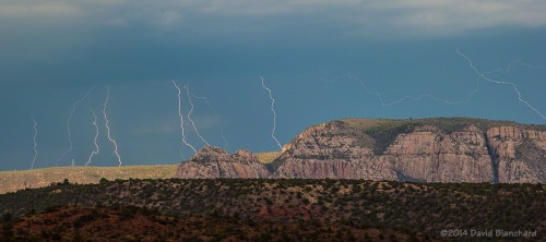 Lightning over the Mogollon Rim.