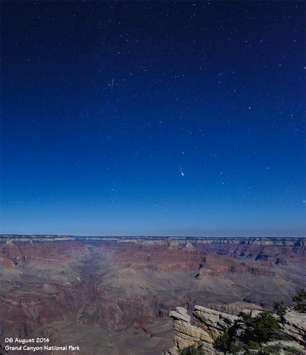 Meteors above the Grand Canyon.