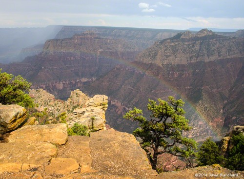 Rainbow in the Grand Canyon.