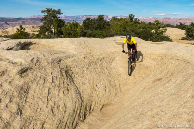 Rolling into a sandstone bowl.