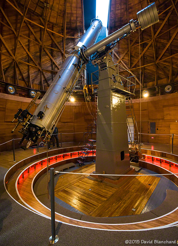 The Clark Telescope, pedestal, and newly renovated floors and dome.