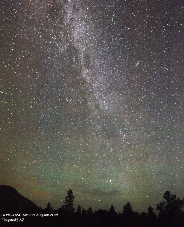 Perseid meteor shower.