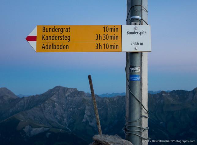 Bunderspitz summit (2546 m).