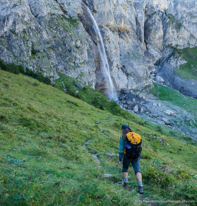 Approaching Lohner Wasserfälle.
