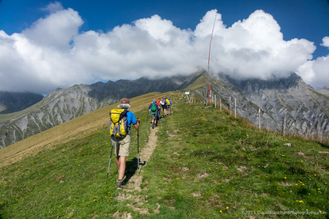 The start of the Tschentenalp–Schwandfeldspitz–Furggeli hike.
