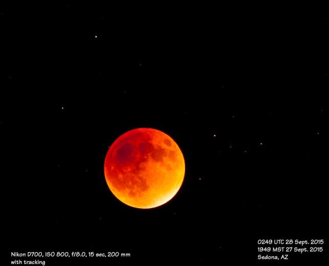 Total lunar eclipse.