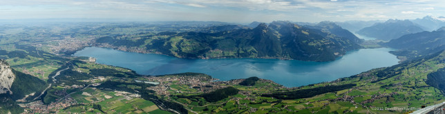 Panoramic image of Thunersee.