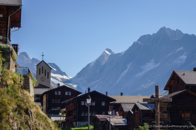 View of the Lötschental Valley.