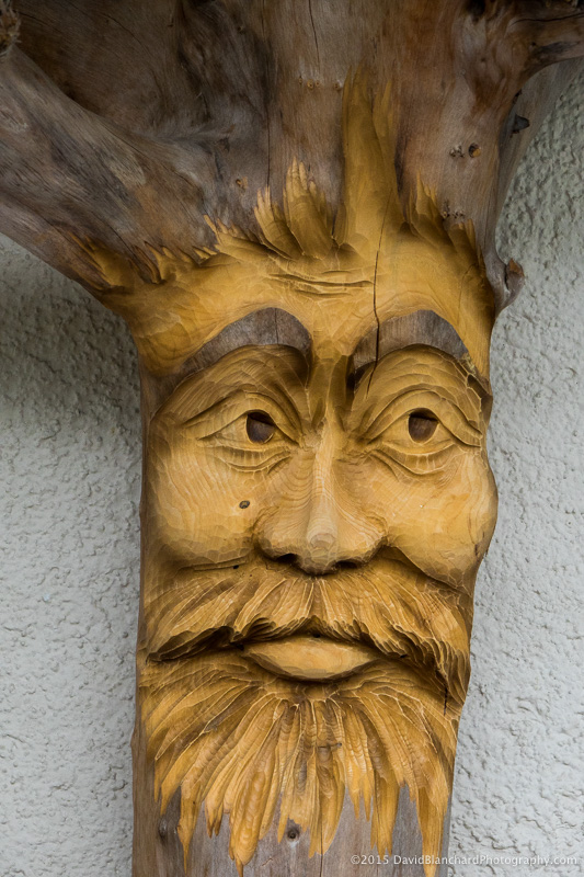 One of the many wood carvings.