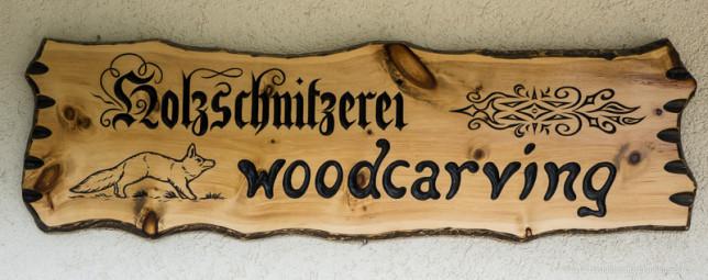We've arrived at the wood carvers shop.