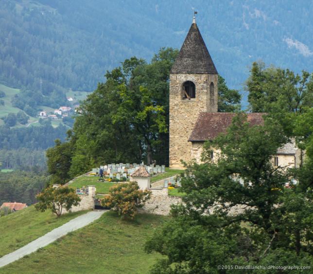 Church along the Rhaetian Railway.