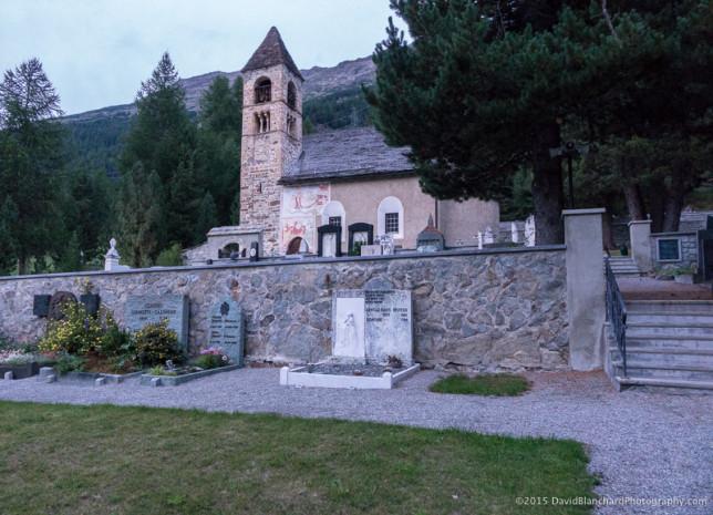 Sta. Marie Kirche in Pontresina.