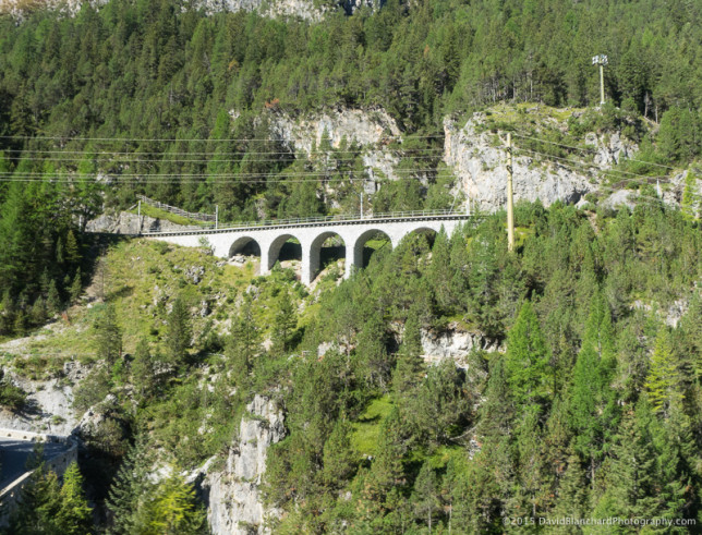 Viaduct on the Rhaetian Railway.