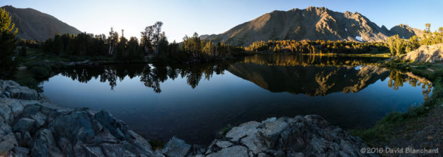 "Morning light at Frog Lake in the <a href=""https://en.wikipedia.org/wiki/Virginia_Lakes"" target=""_blank""> Virginia Lakes</a> region of the eastern Sierra."