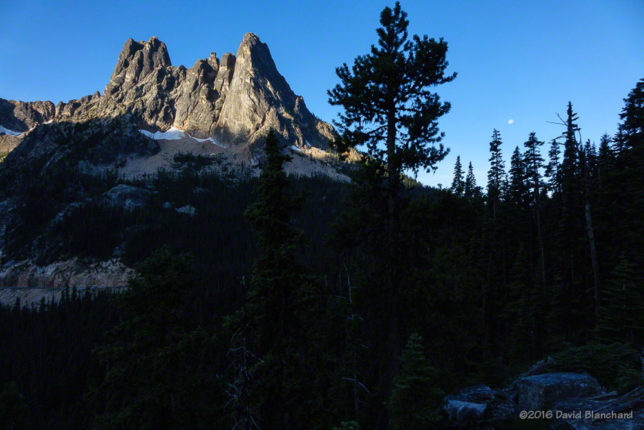 Sunrise on Liberty Bell Mountain.