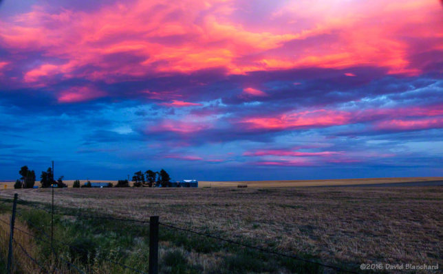 Sunset over the Palouse.