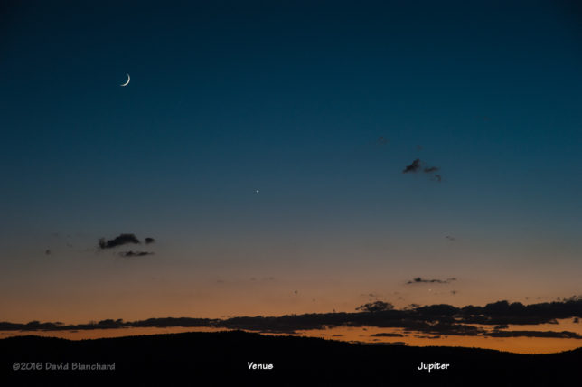 Moon with Venus and Jupiter