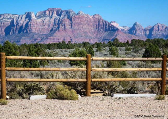 The view from the trail head. That's Zion National Park in the distance.