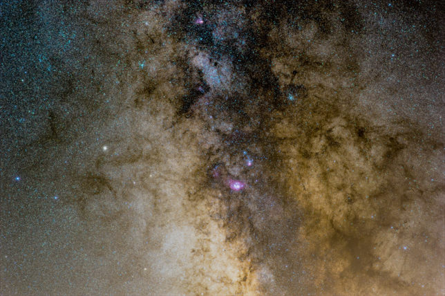A small portion of the Milky Way.
