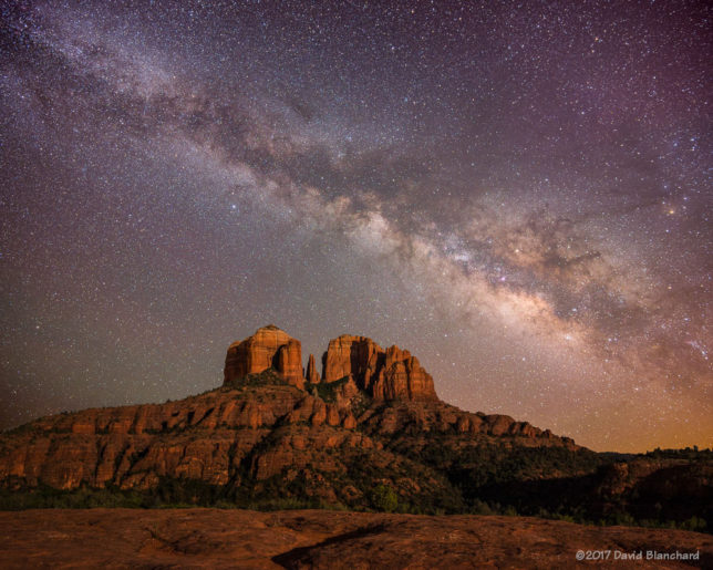 Milky Way and Cathedral Rock.