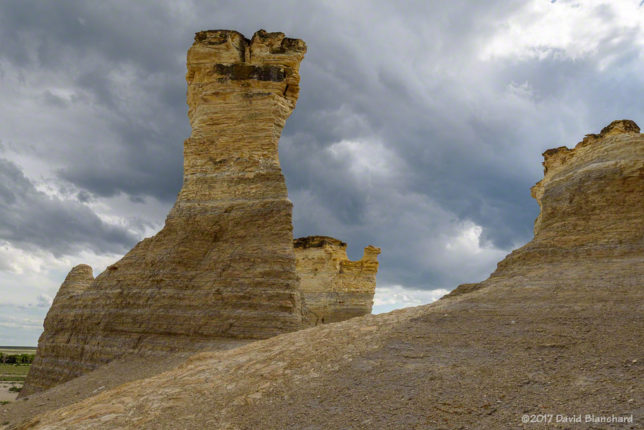 Approaching convection at Monument Rocks, Kansas.