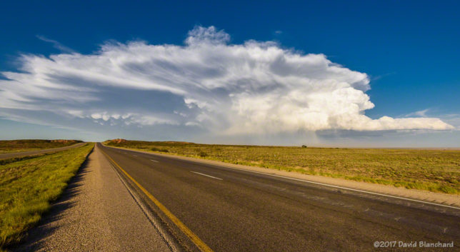 Severe thunderstorm, southeast New Mexico.