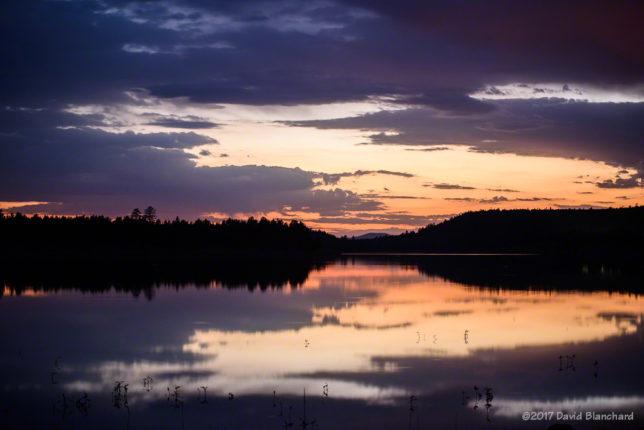 Long exposure at twilight.