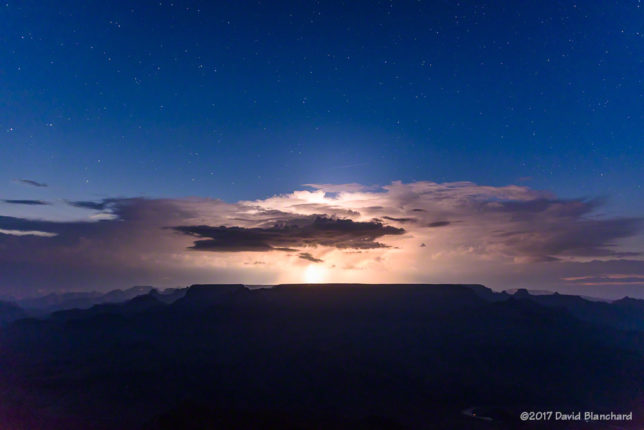 Twilight lightning over the North Rim, Grand Canyon.