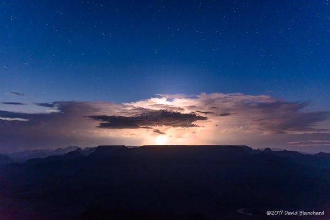 Twilight lightning over the North Rim, Grand Canyon.