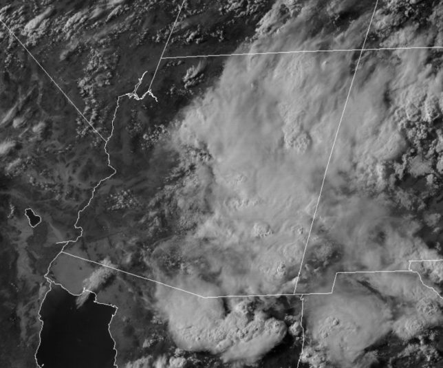 GOES-16 visible satellite imagery.