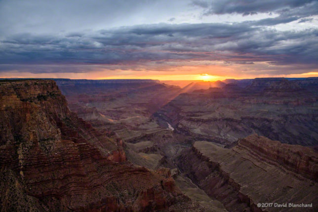 Sunset from Lipan Point, Grand Canyon National Park.